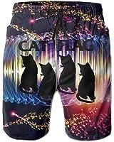Cat Flag Men's Swim Trunks