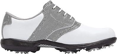 Footjoy DryJoys, Scarpe da Golf Donna, Bianco/Rosa (Blanco/Rosa