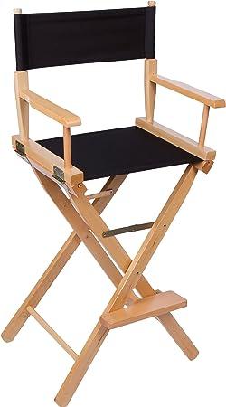 Trademark Innovations DIREC30LW-BL Director Chair, Black