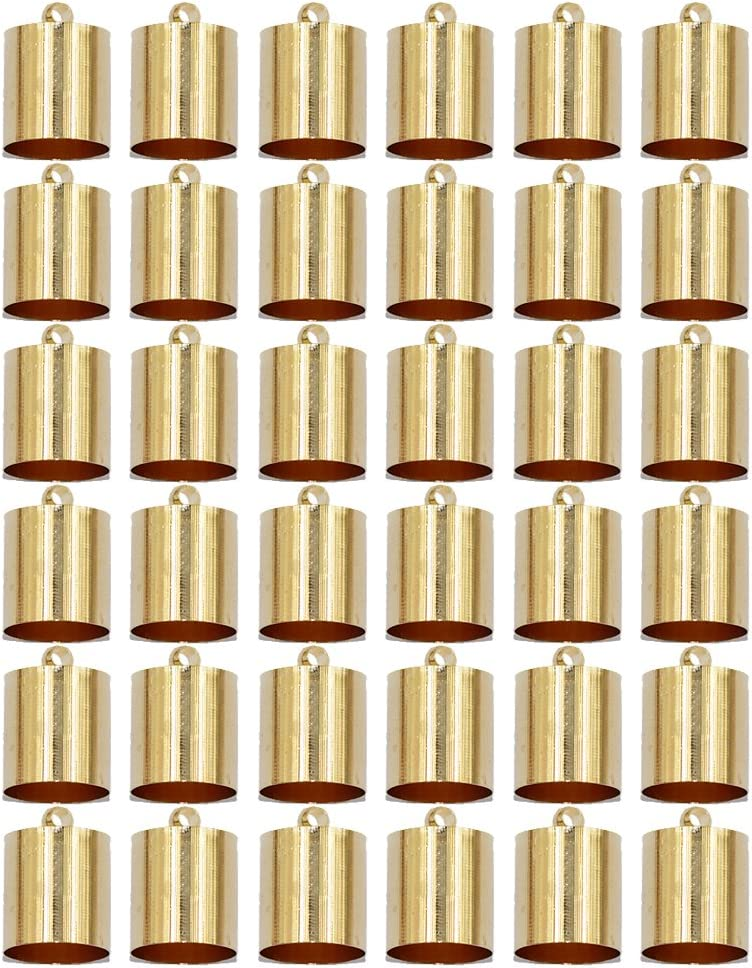 Baosity 20pcs Barrel Charms Bead End Caps Stopper Fit 9mm 10mm Cord Leather Crafts