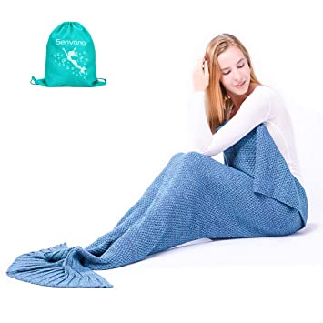 Marvelous Amazon Com Mermaid Tail Blanket Mermaid Blanket For Girls Machost Co Dining Chair Design Ideas Machostcouk