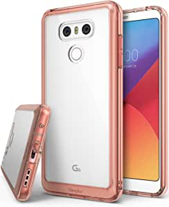 Ringke Fusion Compatible with LG G6 Plus Case Crystal Clear Drop Protection Phone Cover for LG G6 - Rose Gold