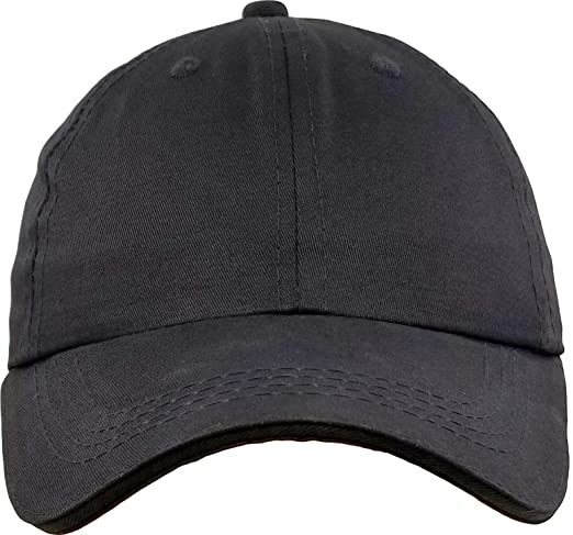 cb0982f6c48 Amazon.com  Baseball-Cap-Hat-Boys Kids Adjustable Plain - Unisex  Unconstructed Low Profile Cotton Fit 4-12 Years  Clothing
