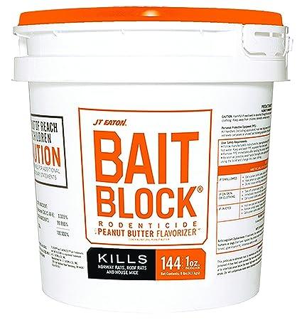 JT Eaton 719-PN Bait Block Peanut Butter Flavor Rodenticide