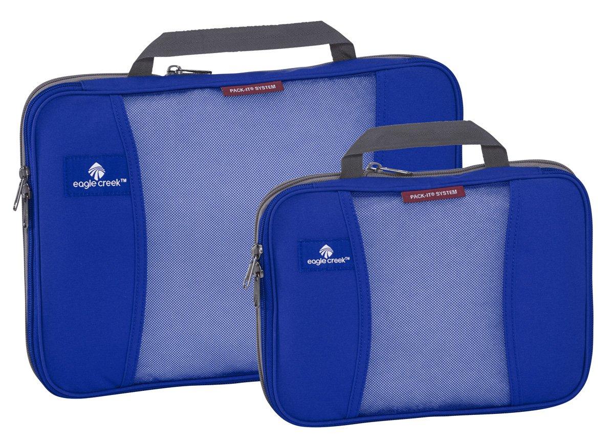 Eagle Creek Travel Gear Pack-it Compression Cube Set, Blue Sea
