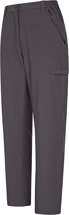 Many Pockets Camping Mountain Warehouse Arctic Thermal Womens Trousers Cosy Ladies Bottoms for Walking Hiking Black 10 Stretch Warm Fleece Lined Pants