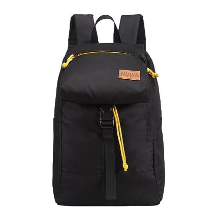 3e97658a2 NUWA 14inch Travel Lightweight Backpack waterproof Unisex Nylon School  Bookbag for Teen Women Girls Man Boys College Flap Casual Cute Sport Daypack  Outdoor ...
