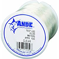 Ande Premium Monofilament Line with 200-Pound Test and 0.25-Pound Spool (50-Yards), Clear