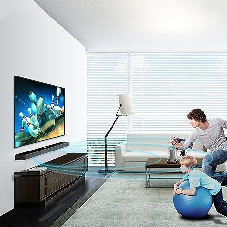 Smart TV Barra De Sonido TV Audio Eco Wall Home Living Room Teatro Bluetooth Altavoz Subwoofer Negro: Amazon.es: Electrónica