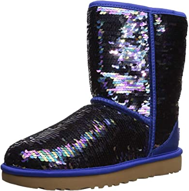 W Classic Short Sequin Fashion Boot