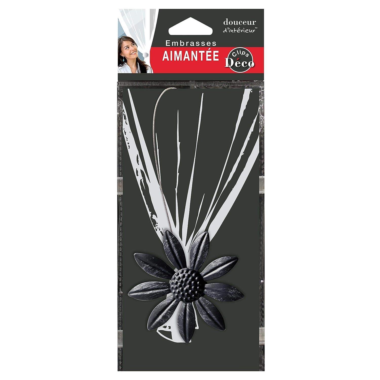 Douceur dInt/érieur Embrasse AIMANTEE L 30 x 8 CM Metal Patine Margery Blanc//Or