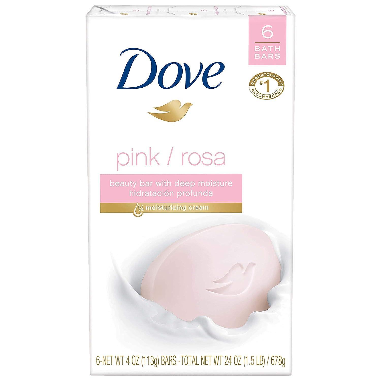 Dove Beauty Bar, Pink, 4 oz, 6 Bar ( packaging may vary )