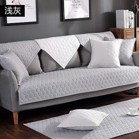 Bcxiu Funda de sofá acolchada de algodón 100%, protector de ...