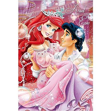 4c7c47beafdd Amazon.com : Disney Princess Ariel and Prince Eric 3D Lenticular ...