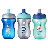 Tommee Tippee Sippy Toddler Sportee Bottle, Boy - 12+ months, 10 Ounce, Pack of 3, Blue