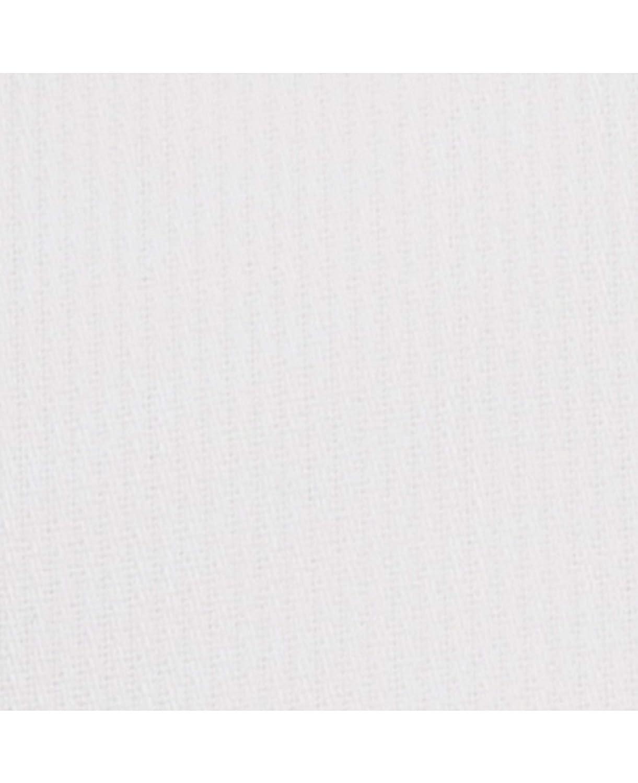 Savile Row Company Mens White Bedford Stripe Slim Fit Non-Iron Shirt Single Cuff