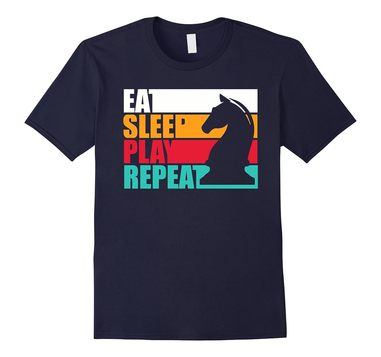 Eat. Sleep. Chess. Repeat. - Retro T Shirt Vintage Tee-FL