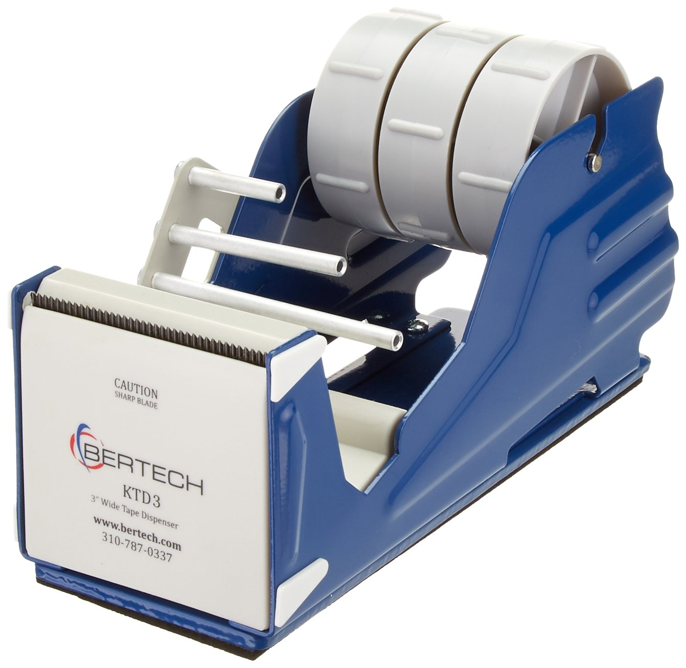 Bertech General Purpose Tape Dispenser, For 1' Wide Tapes For 1 Wide Tapes KTD1