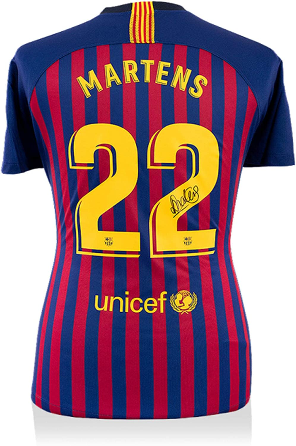 Lieke Martens Fc Barcelona Autographed 2018 2019 Home Jersey Icons Autographed Soccer Jerseys At Amazon S Sports Collectibles Store