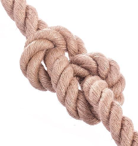 Seilwerk STANKE Corde de Jute fibres naturelles enroul/ées gr/éement la rambarde de s/écurit/é 12mm 1m