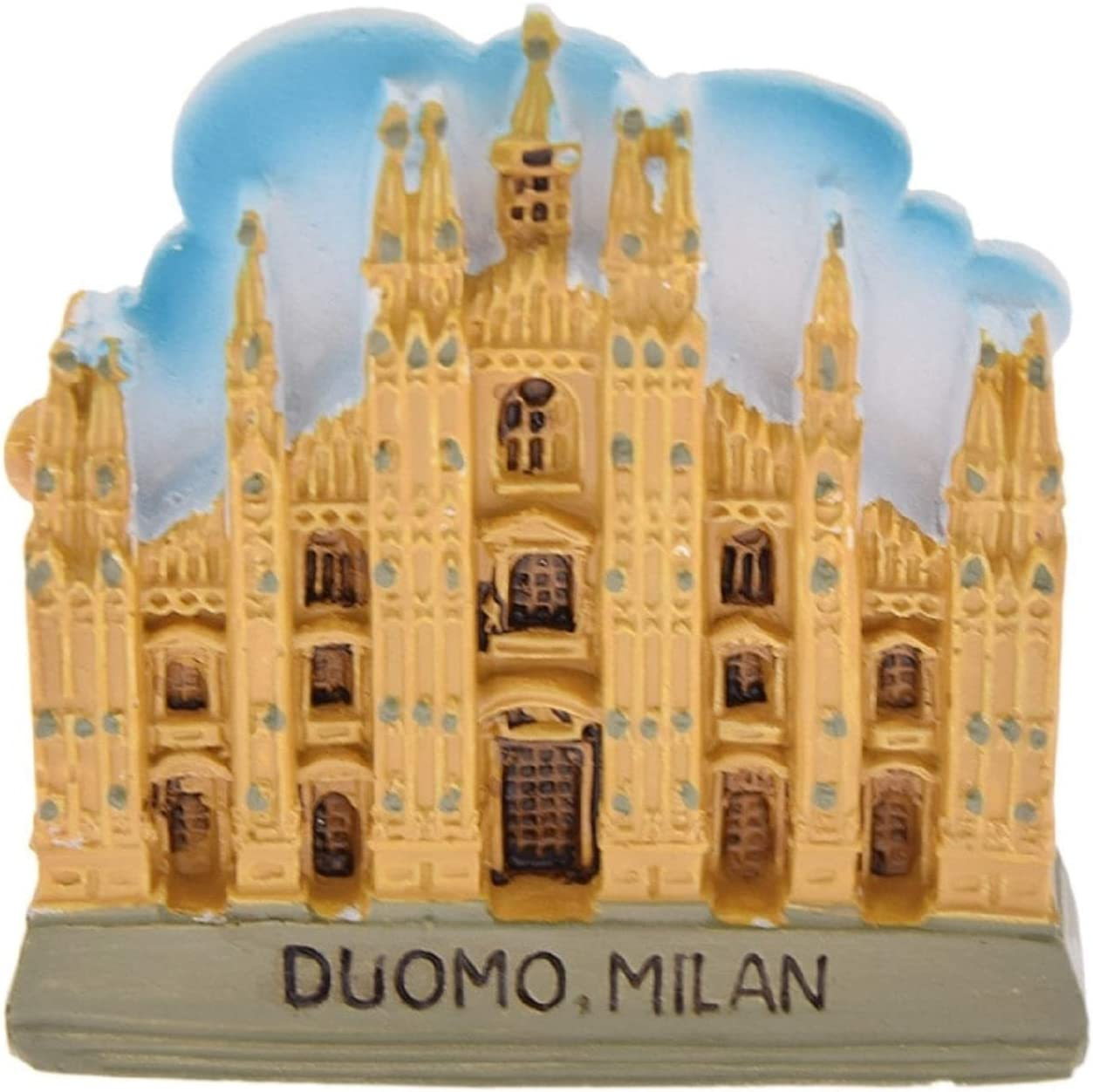 Souvenir Milan Cathedral Duomo Equestrian Statue Italy High Quality Resin Fridge 3d Magnet