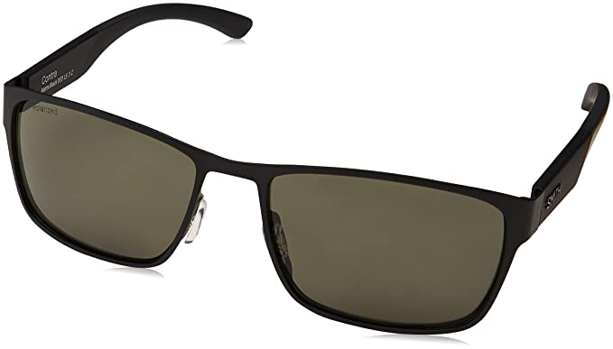 e3582a2a74d1e Smith Contra Polarized Sunglasses Matte Black Polarized Gray Green ...