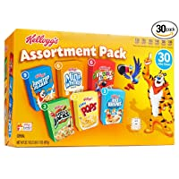 Deals on Kelloggs Breakfast Cereal Assortment Pack, 30-Count
