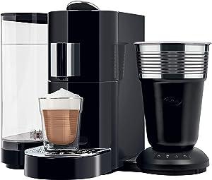 K-Fee Twins II & Latte Verismo Pod Compatible Single Serve Coffee/Espresso Machine with Lattaero Milk Frother