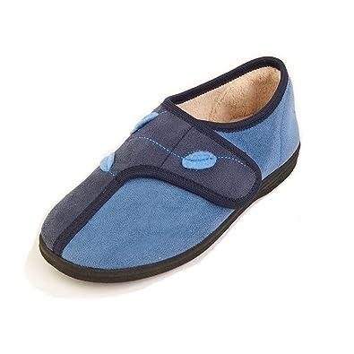 Sandpiper - Zapatillas de estar por casa de Lona para hombre, color azul, talla 47