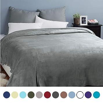 Kuscheldecke XXL Flauschige Wohndecke Grau 270x230cm   Fleece Tagesdecke  Für Bett   Hochwertige Decke Warme Weiche