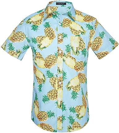 ACEBABY Camisa Hawaiana Camisa Piñas Camiseta Manga Corta con ...