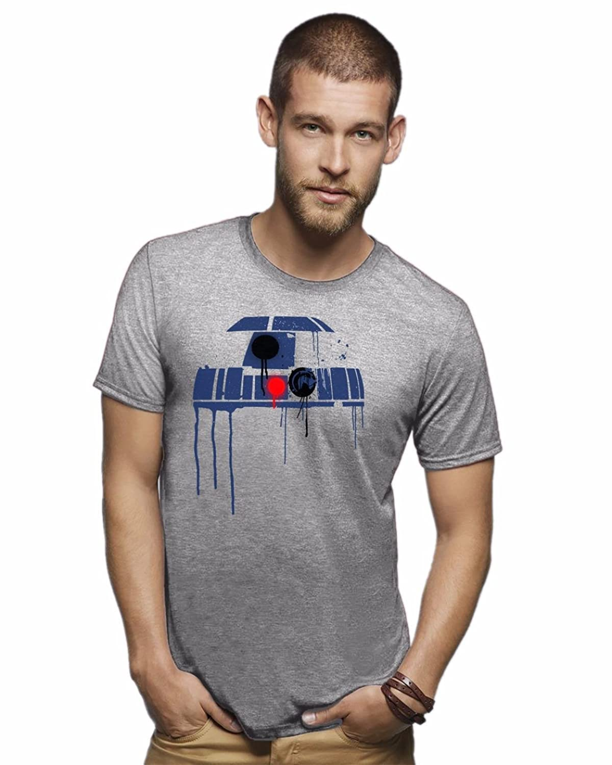 R2D2 funny movie shirt graphic distressed tshirt funny sci fi movie tee