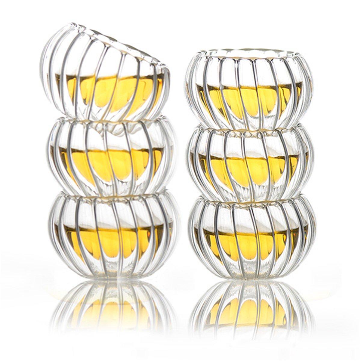 LYEJM 600ml 6 Cups Tealight Warmer Clear Pumpkin Tea Glass Pot Set Infuser Coffee Pot LYEJM by LYEJM (Image #3)