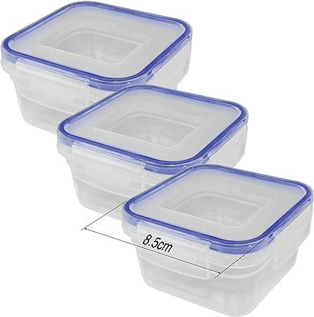 30 X Plastique Transparent Mini Boîtes de Rangement pour Nourriture Congélateur Restes