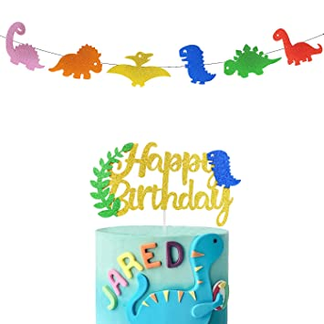 Pancarta de cumpleaños con purpurina dorada con adornos para ...
