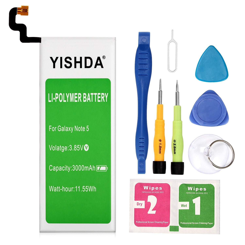 Bateria Celular Galaxy Note 5 YISHDA 3000mAh EB BN920ABE Li Polymer para Samsung Galaxy Note 5 N920 N920V N920T N920A N9