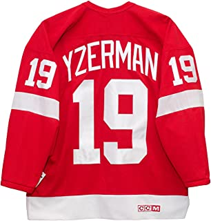 9e9c6d7f2 Steve Yzerman Detroit Red Wings Red CCM Jersey Sewn Tackle Twill Name and  Number