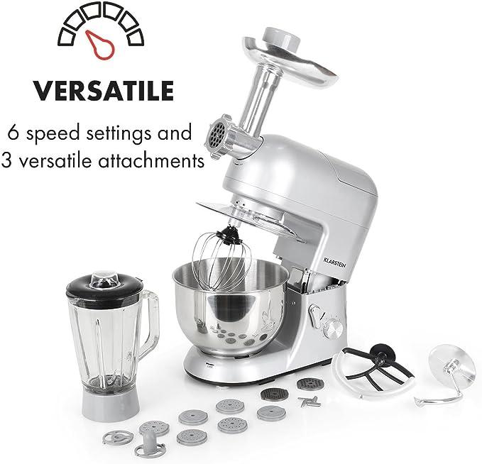 Klarstein Robot de cocina multifunción batidora, amasadora, picadora, licuadora.: Amazon.es: Hogar