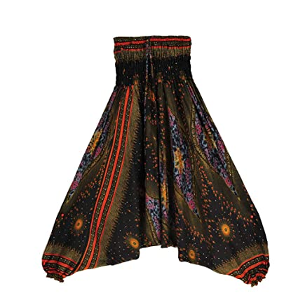 Fansu Pantalones Boho Mujeres Hippie Casual Harem Yoga ...