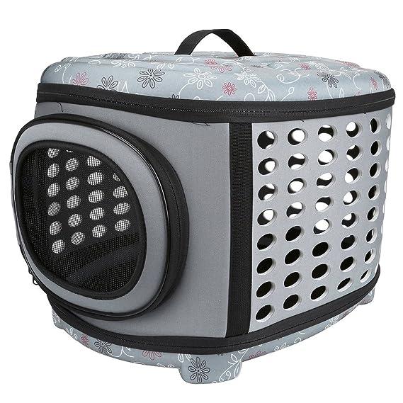 Mogoko - Caseta plegable para mascotas con funda rígida - Perro y gato con parte superior dura y suelo duro para la mayoría de gatos, perros pequeños: ...