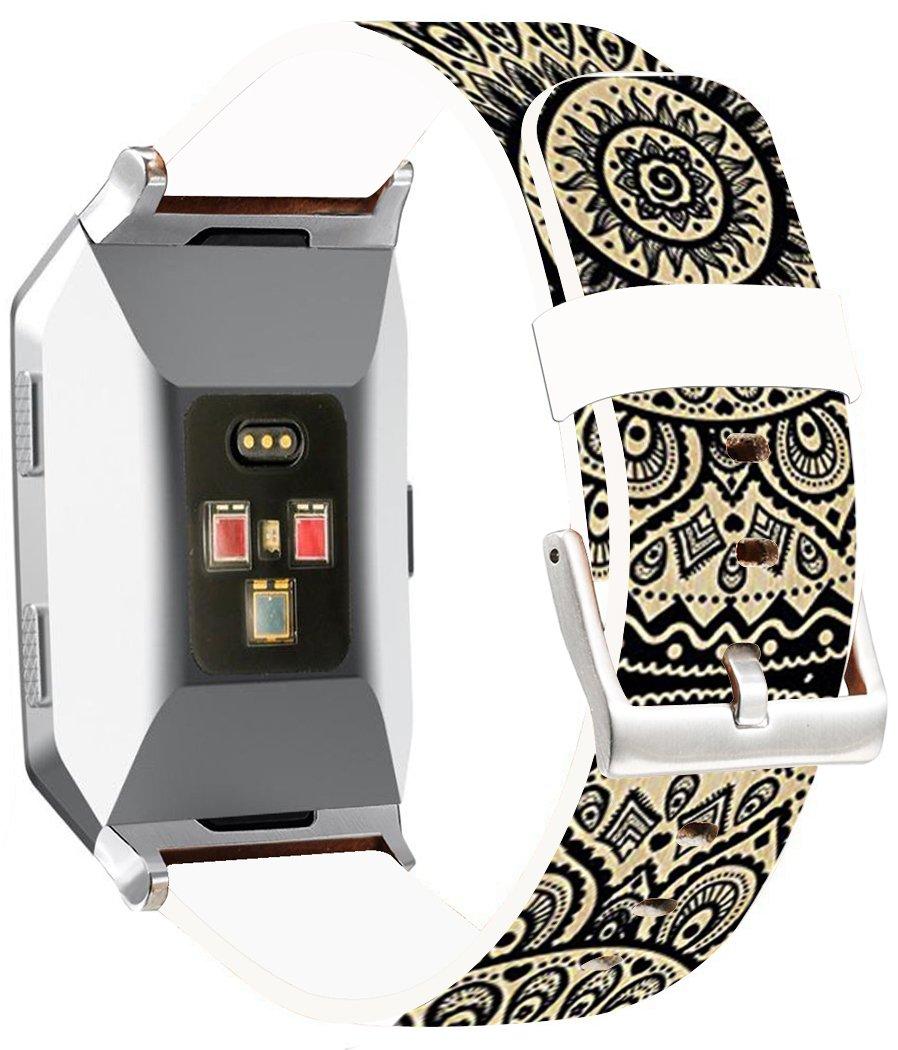 Fitbit Ionicバンドレザー – endiy Fitbit Ionicストラップスモール&ラージシルバーレディースメンズ – 面白いデザイン印刷Hallowmas All Saints ' Day Gift Present [Fitbit Ionic] A 46 A-46 A-46 B0776T3B9H