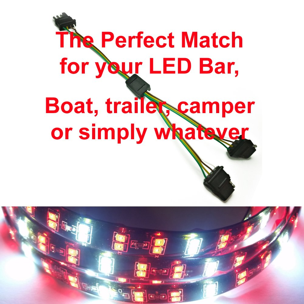 New Trailer Splitter For Led Tailgate Light Bar 4 Pin Dodge Wiring Adapter Flat Y Harness High Capacity Automotive