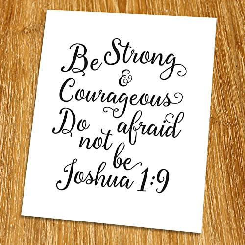 Amazoncom Joshua 19 Be Strong And Courageous Print Unframed