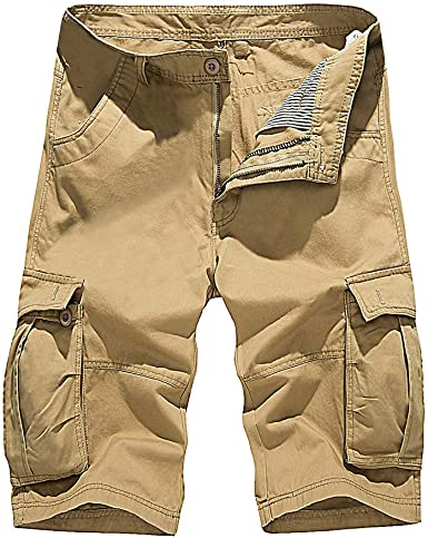 Pantalones Cortos de los Hombres Camuflaje Fresco Verano de algodón Casual Hombres Pantalones Cortos cómodo Camo para Hombres Pantalones Cortos de Carga: Amazon.es: Ropa y accesorios
