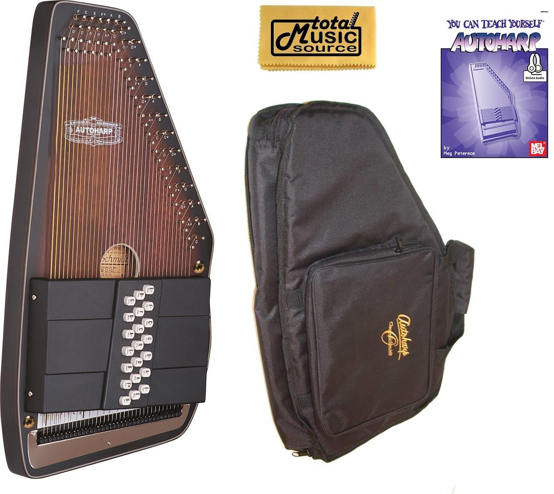 Oscar Schmidt 21 Chord Electric Autoharp, Solid Spruce Back, Satin, OS11021AE