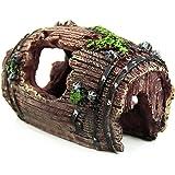 Vollter Résine Fish Tank non toxique Ornement brisé Barrel Cave Aménagement Décoration