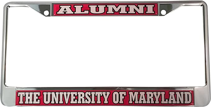 6.25x12.25 Beadalon FANMATS 14910 NCAA University of Maryland Terrapins Chrome License Plate Frame