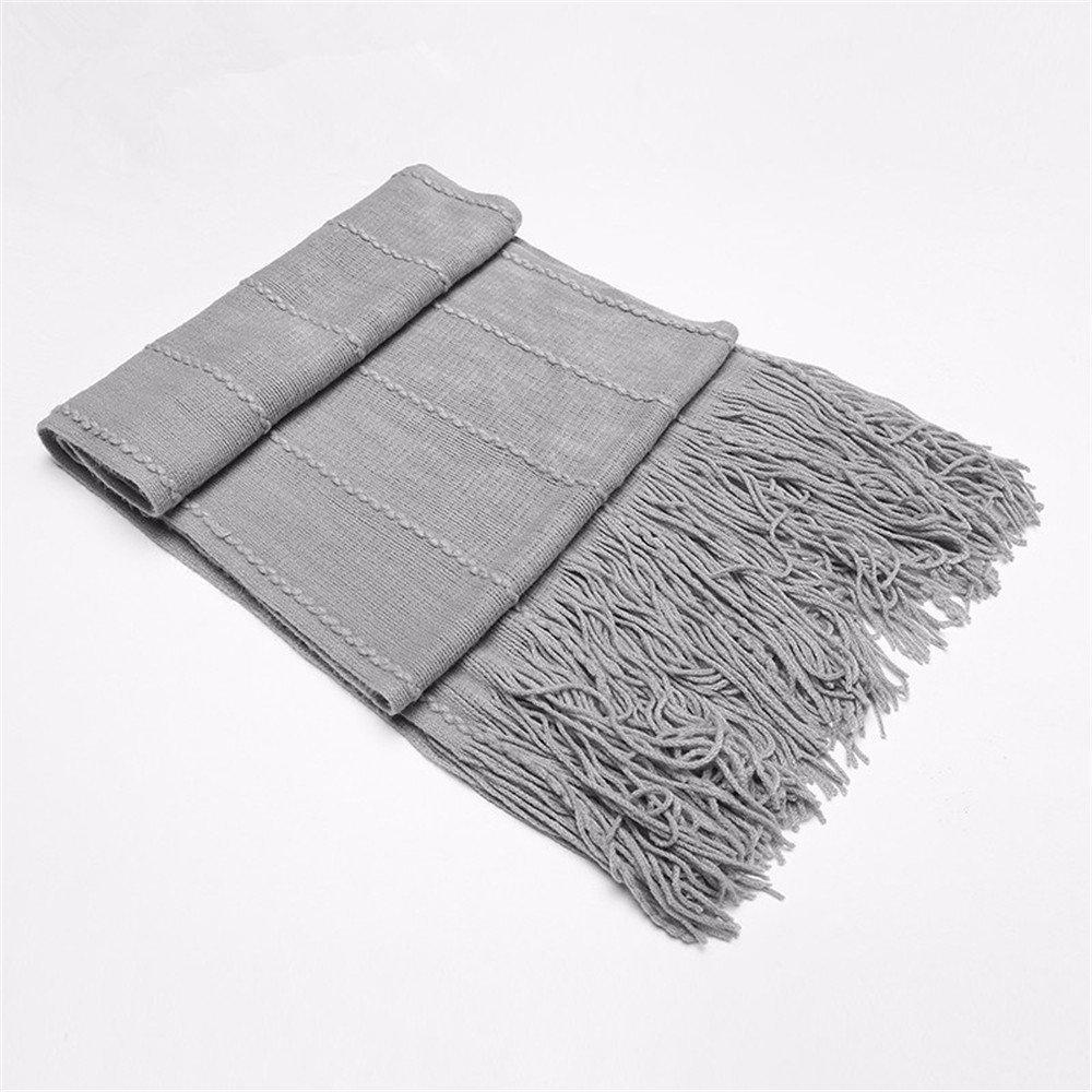 DIDIDD Bufanda otoño e invierno bufanda de punto de lana con flecos bufanda gruesa mujer caliente