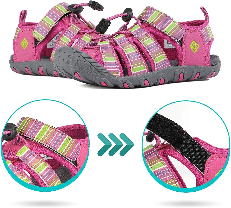 DREAM PAIRS Boys Girls Closed-Toe Outdoor Summer Sport Sandals(Toddler//Little Kid//Big Kid)