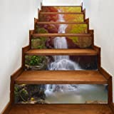 AILEGOU 3D Stair Stickers Decals Brick Staircase Decals Removable Tile Stair Risers Decals Decor Peel and Stick Stairs…